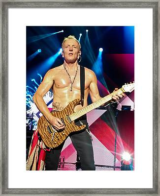 Phil Collen Of Def Leppard 5 Framed Print by David Patterson
