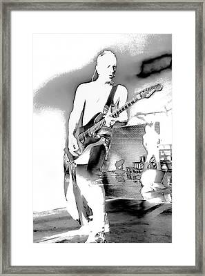 Phil Collen Of Def Leppard Framed Print by David Patterson