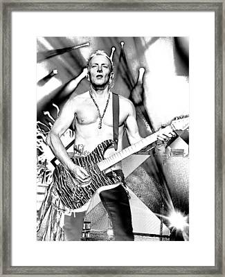 Phil Collen With Def Leppard Framed Print by David Patterson