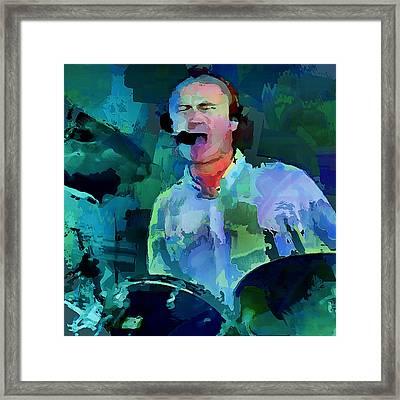 Phil Collins Drums Framed Print