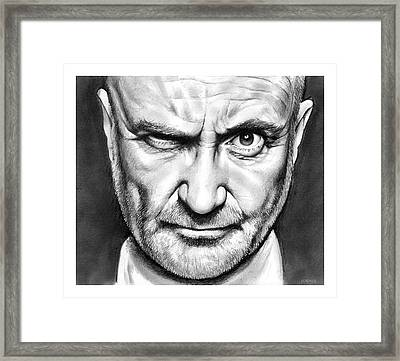 Phil Collins Framed Print by Greg Joens