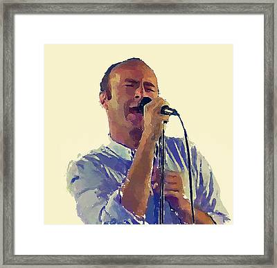 Phil Collins Mama Framed Print