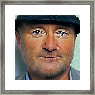 Phil Collins Portrait Genesis 11 Framed Print