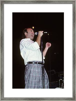 Phil Collins Framed Print by Rich Fuscia