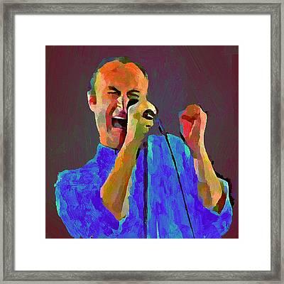 Phil Collins Tonight Tonight Framed Print
