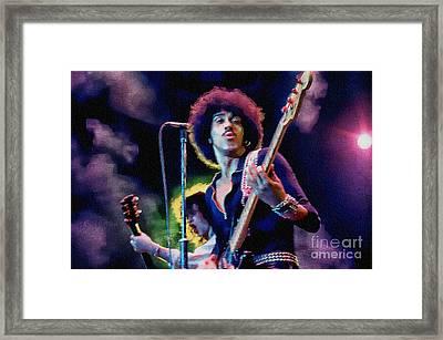 Phil Lynott - Thin Lizzy Framed Print by Ian Gledhill