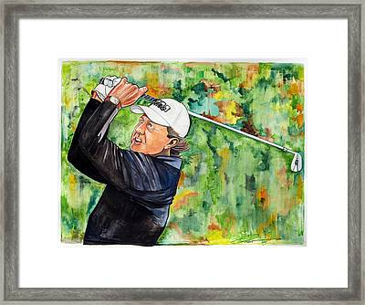 Phil Mickelson Framed Print by Dave Olsen