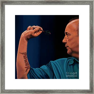 Phil Taylor The Power Framed Print by Paul Meijering