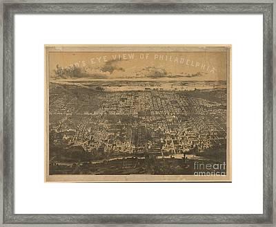 Philadelphia 1868 Framed Print by Baltzgar
