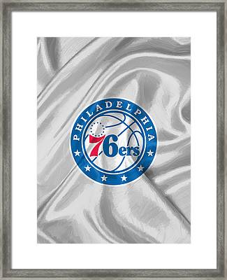 Philadelphia 76ers Framed Print by Afterdarkness