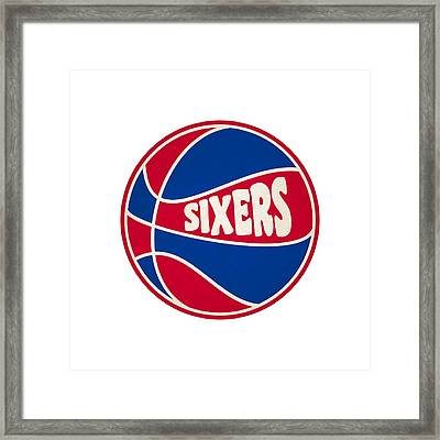 Philadelphia 76ers Retro Shirt Framed Print by Joe Hamilton