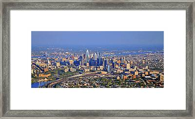 Framed Print featuring the photograph Philadelphia Aerial  by Duncan Pearson