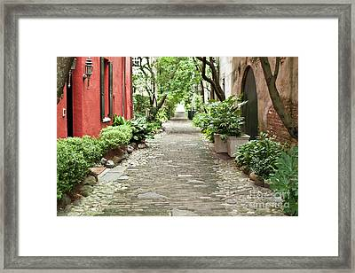 Philadelphia Alley Charleston Pathway Framed Print