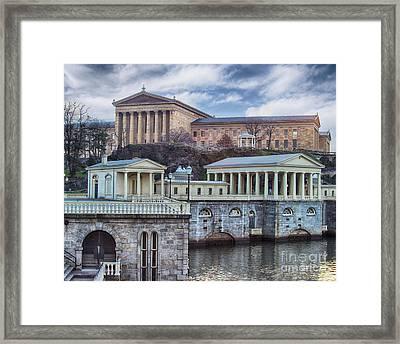 Philadelphia Art Museum At The Water Works  Framed Print