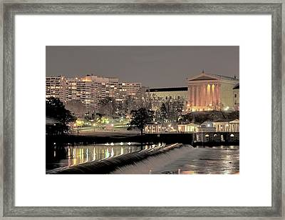 Philadelphia Art Museum In Pastel Framed Print