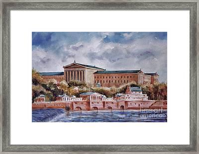 Philadelphia Art Museum Framed Print by Joyce A Guariglia