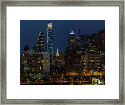 Philadelphia At Night Framed Print