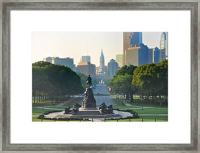Philadelphia Benjamin Franklin Parkway Framed Print by Bill Cannon