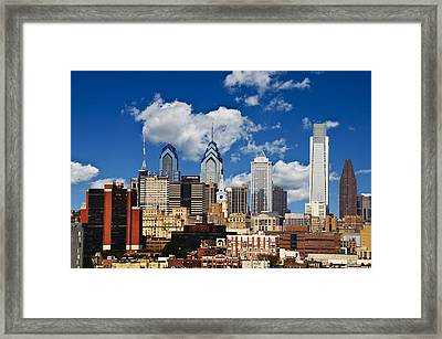 Philadelphia Blue Skies Framed Print by Bill Cannon