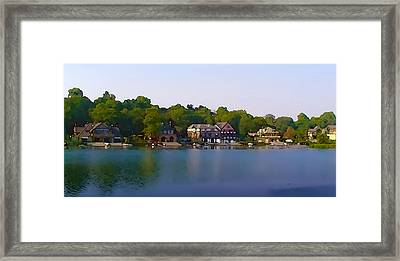 Philadelphia Boat House Row Framed Print by Bill Cannon
