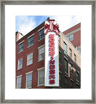 Philadelphia - Bookbinders Framed Print