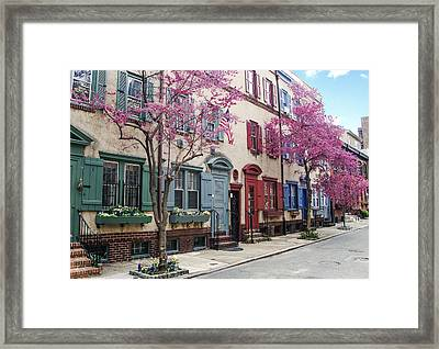 Framed Print featuring the photograph Philadelphia Blossoming In The Spring by Bill Cannon