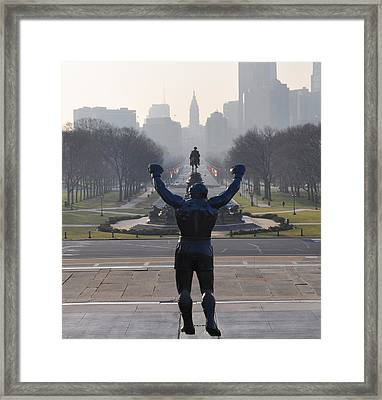 Philadelphia Champion - Rocky Framed Print