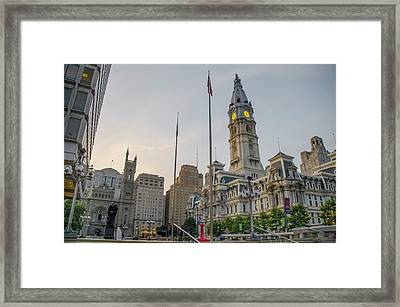 Philadelphia - City Hall Area Framed Print