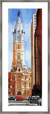 Philadelphia City Hall Framed Print by Barry Levy