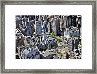 Philadelphia City Hall Broad St And Market St Philadelphia Pennsylvania 19107 Framed Print by Duncan Pearson