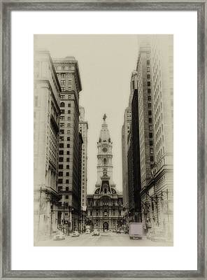Philadelphia City Hall From South Broad Street Framed Print by Bill Cannon