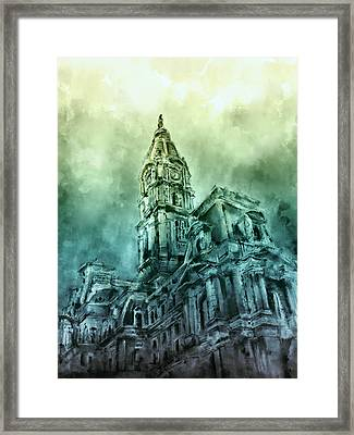 Philadelphia City Hall Green Framed Print