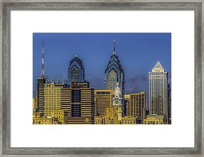 Philadelphia City Hall Skyline Framed Print by Nick Zelinsky