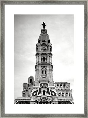 Philadelphia City Hall Tower Framed Print by Olivier Le Queinec