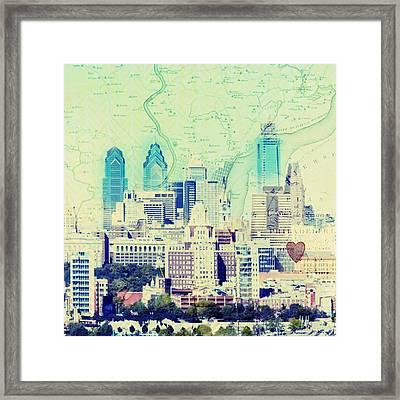 Philadelphia Cityscape Framed Print