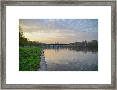 Framed Print featuring the photograph Philadelphia Cityscape From The Schuylkill In The Morning by Bill Cannon