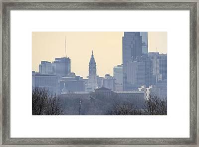 Philadelphia Cityscape From The West Framed Print