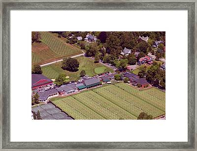 Philadelphia Cricket Club Grass Tennis 415 West Willow Grove Avenue Philadelphia Pa 19118 Framed Print by Duncan Pearson