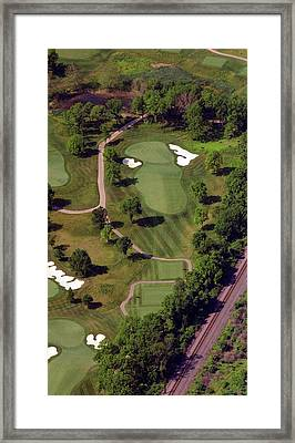 Philadelphia Cricket Club Militia Hill Golf Course 9th Hole Framed Print by Duncan Pearson