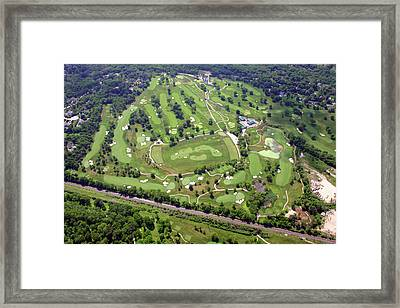 Philadelphia Cricket Club Militia Hill Golf Course Holes 3 4 5 6 7 8 And 9 Framed Print by Duncan Pearson