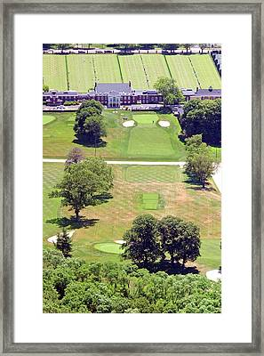 Philadelphia Cricket Club St Martins Golf Course 9th Hole 415 W Willow Grove Ave Phila Pa 19118 Framed Print by Duncan Pearson