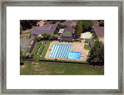 Philadelphia Cricket Club St Martins Pool 415 West Willow Grove Avenue Philadelphia Pa 19118 4195 Framed Print by Duncan Pearson