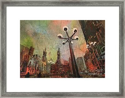Philadelphia Downtown Sunrise Framed Print by Ryan Fox