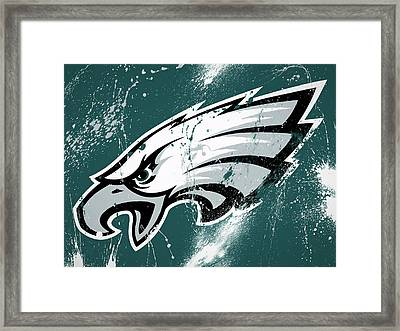 Philadelphia Eagles Paint Splatter Framed Print