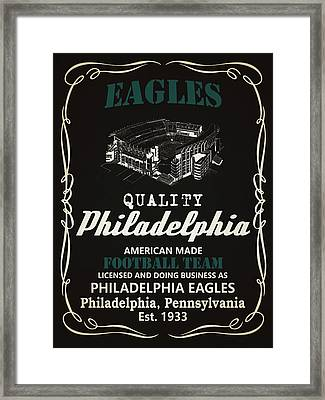 Philadelphia Eagles Whiskey Framed Print