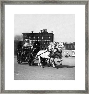Philadelphia Fire Department Engine - C 1905 Framed Print