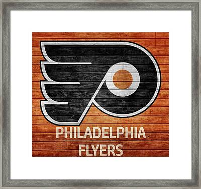 Philadelphia Flyers Barn Door Framed Print by Dan Sproul