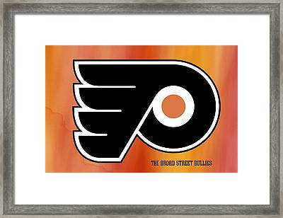 Philadelphia Flyers Hockey Club Framed Print by Daniel Hagerman