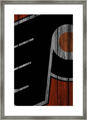 Philadelphia Flyers Wood Fence Framed Print by Joe Hamilton
