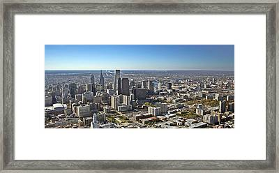 Philadelphia From North To South Framed Print by Duncan Pearson